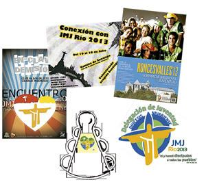 logotipos de las actividades alternativas en España para celebrar la JMJ Río 2013