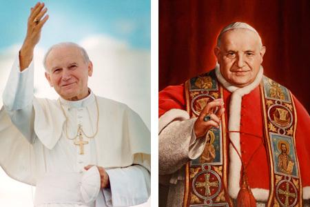 Juan Pablo II y Juan XXIII, canonizados el 27 de abril 2014