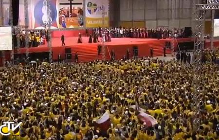 encuentro del papa Francisco con los voluntarios de la JMJ Río 2013