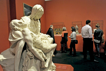 inauguración de la exposición La herencia de lo sagrado, JMJ Río 2013