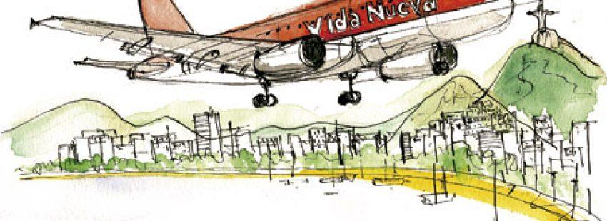 ilustración de Jaime Diz para el artículo sobre Vida Nueva en la JMJ Río 2013 nº 2858