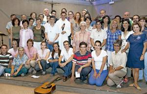 participantes en las Jornadas de Pastoral Juvenil y Vocacional 2012
