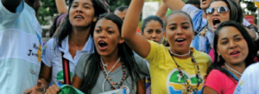 jóvenes brasileños participan en la JMJ Río 2013