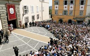 papa Francisco en Castel Gandolfo 14 julio 2013