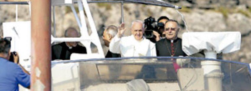 papa Francisco visita isla de Lampedusa para rezar por los inmigrantes 8 julio 2013