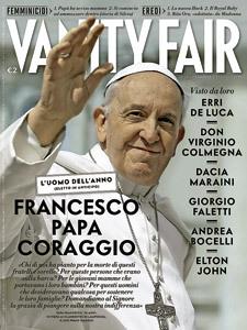 papa Francisco en la portada de Vanity Fair edición italiana como hombre del año