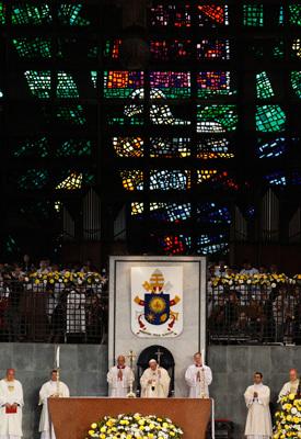 papa Francisco preside la misa con los obispos de la JMJ Río 2013 Catedral de San Sebastián 27 julio