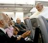 papa Francisco en la entrevista con la prensa en el avión de Brasil a Roma 28 julio 2013