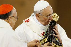 papa Francisco en el Santuario de la Virgen de Aparecida JMJ Río 2013