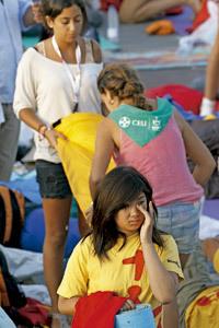 jóvenes participantes en la JMJ 2011 Madrid