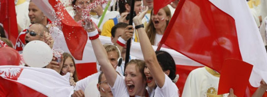 peregrinos polacos en la JMJ Río 2013 al confirmarse Cracovia 2016 como próxima sede