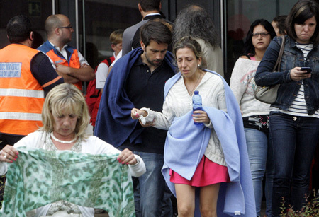 Familiares de las víctimas del accidente de tren ocurrido en Santiago de Compostela 24 julio 2013