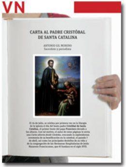 portada Pliego Vida Nueva Carta al P. Cristóbal de Santa Catalina julio 2013