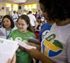 voluntarias de la JMJ Río 2013 ensayan canciones en el coro