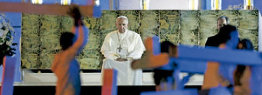 El Papa Francisco, durante la vigilia de la JMJ en Copacabana