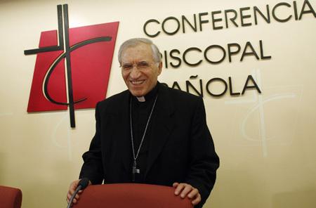 Antonio María Rouco Varela, cardenal arzobispo de Madrid y presidente de la CEE, foto de 2008