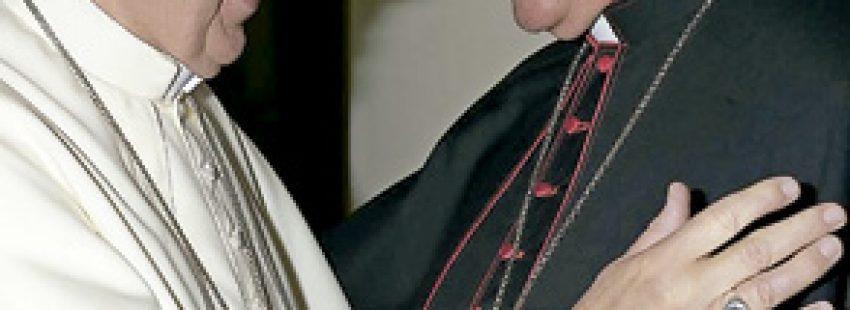 papa Francisco con Joan Piris, obispo de Lleida, en Roma septiembre 2013