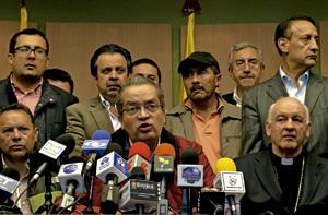 Luis Augusto Castro Quiroga, arzobispo de Tunja, Colombia, en el conflicto con los agricultores