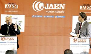 obispo Ramón del Hoyo en los Diálogos Jaén Nuevo Milenio 17 septiembre 2013