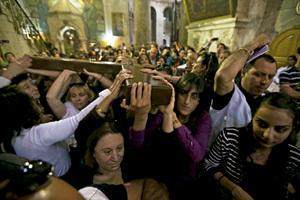 cristianos en Tierra Santa