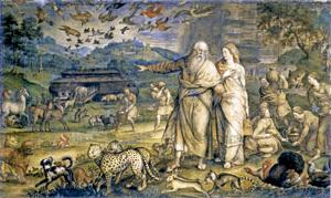 Entrada de los animales en el Arca de Noé, de Michel Coxcie