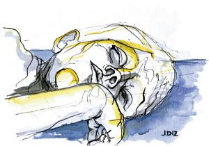 Ilustración de Jaime Diz para el artículo de Francesc Torralba, El riesgo de acostumbrarse, nº 2861