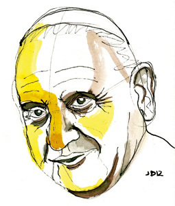 ilustración Jaime Diz n.2863 Artículo de Francisco Vázquez sobre Juan XXIII