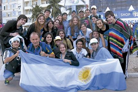 jóvenes argentinos en la JMJ Río 2013