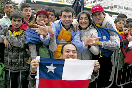 jóvenes chilenos en la JMJ Río 2013
