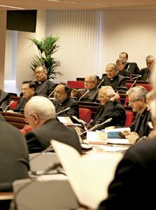 obispos españoles reunidos en Asamblea Plenaria