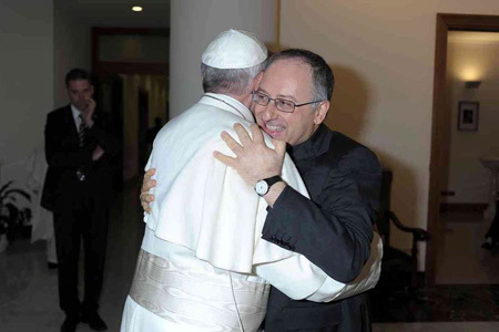 papa Francisco y Antonio Spadaro, director de La Civiltà Cattolica 14 junio 2013