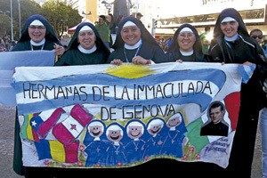 religiosas argentinas Hermanas de la Inmaculada de Génova en la JMJ Río 2013