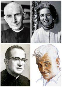 cardenal Herrera Oria, Pilar Bellosillo, P. Abundio García y Guillermo Rovirosa