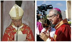 Jaume Pujol, arzobispo de Tarragona, y Joan Enric Vives, arzobispo de Urgell