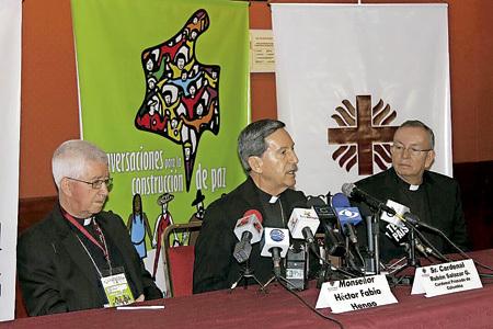 Rubén Salazar, cardenal de Bogotá, en el VI Congreso Nacional de Reconciliación en Colombia octubre 2013