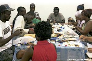 inmigrantes beneficiarios del trabajo de la Delegación de Migraciones de Tánger