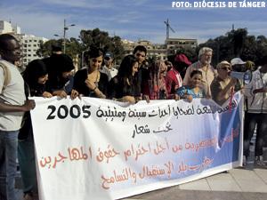 caravana a Ceuta participada por la Iglesia de Tánger en memoria de migrantes fallecidos