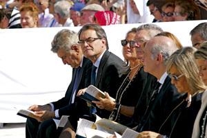 Tarragona beatificación de 522 mártires 13 octubre 2013 autoridades civiles
