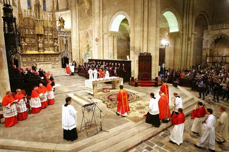 Tarragona beatificación de 522 mártires, celebración de vísperas 12 octubre 2013