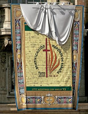 ceremonia de beatificación de mártires españoles en Roma, octubre 2007