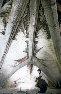 dragones en la bóveda de una iglesia de Madrid Robledo de Chavela