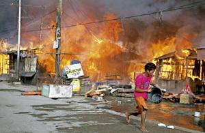 enfrentamientos en Mindanao entre el Ejército y los radicales islamistas septiembre 2013