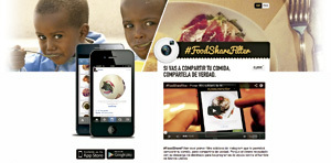 campaña Food Share Filter de Manos Unidas
