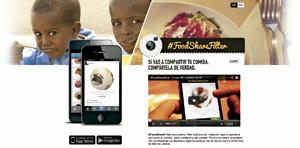 campaña Food Share Filter de Manos Unidas