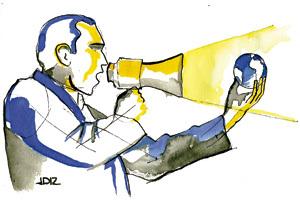 ilustración de Jaime Diz para artículo de cardenal Ravasi Altavoces de Cristo 2868