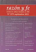 revista Razón y fe septiembre 2013