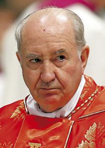 Francisco Errázuriz, cardenal arzobispo emérito de Santiago de Chile miembro del consejo de cardenales