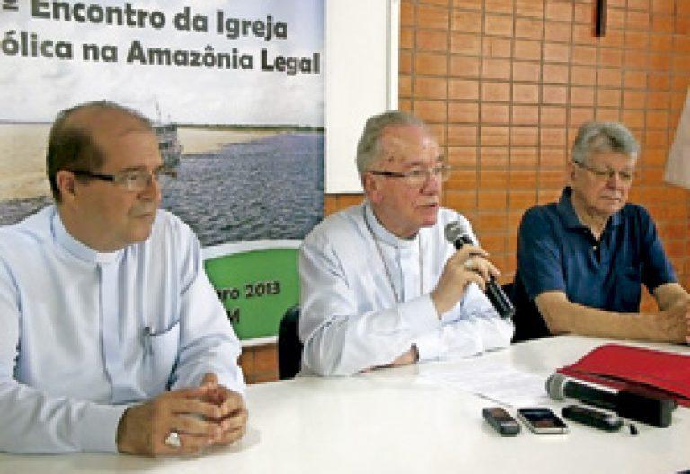 cardenal Claudio Hummes durante el I Encuentro de la Iglesia Católica en la Amazonía Legal