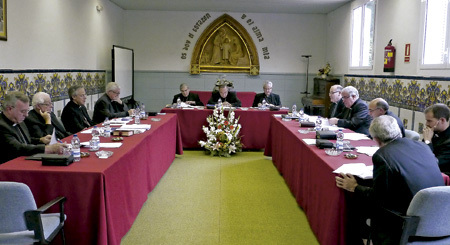 obispos catalanes en la reunión de la Conferencia Episcopal Tarraconense octubre 2013