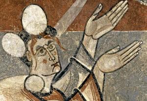 La Lapidación de San Esteban pintura románica exposición Tàpies